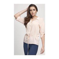 Bluzka-tunika Bella 4073 jasna morela. Białe tuniki damskie marki NIFE, eleganckie. Za 59,90 zł.