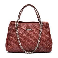 Torebki klasyczne damskie: Skórzana torebka w kolorze bordowym – (S)42 x (W)33 x (G)17 cm
