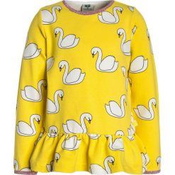 Småfolk WITH SWAN Bluzka z długim rękawem maize. Żółte bluzki dziewczęce bawełniane Småfolk, z długim rękawem. Za 169,00 zł.