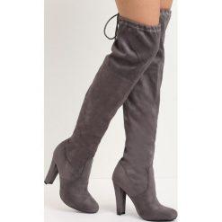 Szare Kozaki Stay Up. Czarne buty zimowe damskie marki Kazar, ze skóry, na wysokim obcasie. Za 89,99 zł.