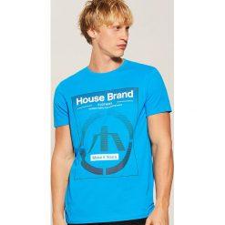 T-shirt Turkusowy. Niebieskie t-shirty męskie House, l. Za 35,99 zł.