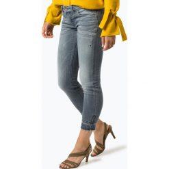 Spodnie z wysokim stanem: Marc O'Polo - Jeansy damskie – Skara Slim, niebieski
