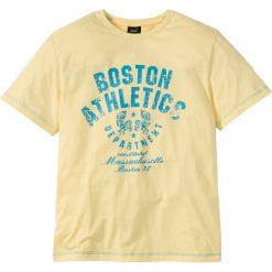 T-shirty męskie z nadrukiem: T-shirt Regular Fit bonprix jasnożółty