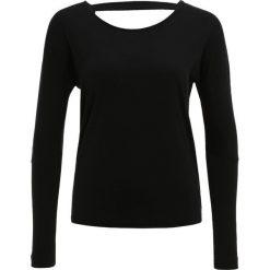 Bluzki damskie: Onzie DRAPEY VBACK Bluzka z długim rękawem black