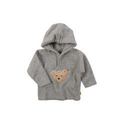 Steiff  Mini Bluza polarowa soft grey - szary - Gr.Moda (2 - 6 lat). Szare bluzy niemowlęce Steiff, z bawełny, z kapturem. Za 119,00 zł.
