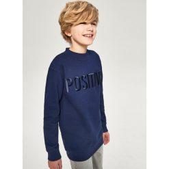 Bluzy chłopięce rozpinane: Bluza z napisem positive - Granatowy