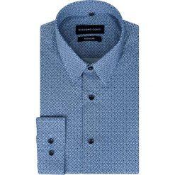 Koszula SIMONE KDWR000246. Szare koszule męskie na spinki Giacomo Conti, m, z bawełny, z klasycznym kołnierzykiem. Za 169,00 zł.
