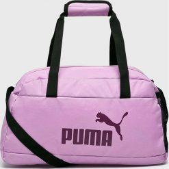 Puma - Torba. Różowe torebki klasyczne damskie Puma, w paski, z materiału. Za 119,90 zł.