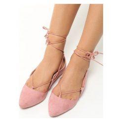 Baleriny damskie lakierowane: Różowe Balerinki Floriano