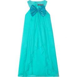 Odzież dziecięca: Sukienka na party, z kokardą bonprix zielony oceaniczny