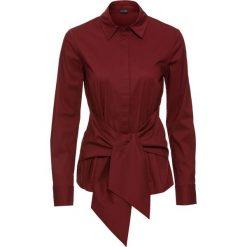 Bluzka z efektem założenia kopertowego bonprix czerwony kasztanowy. Czerwone bluzki asymetryczne bonprix, klasyczne, z kopertowym dekoltem. Za 89,99 zł.