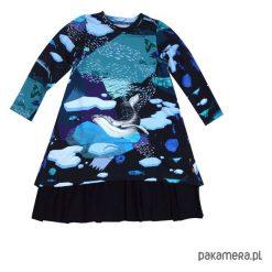 Sukienka salonowa ARCTIC NIGHT. Niebieskie sukienki dziewczęce z falbanami Pakamera, eleganckie. Za 149,00 zł.