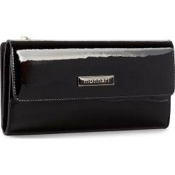 Duży Portfel Damski MONNARI - PUR1051-020 Czarny. Czarne portfele damskie Monnari, z lakierowanej skóry. W wyprzedaży za 129,00 zł.