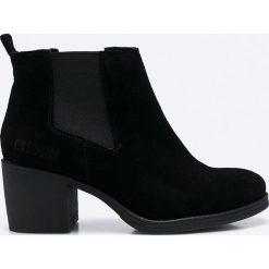 Big Star - Botki. Czarne buty zimowe damskie BIG STAR, z gumy, retro, z okrągłym noskiem. W wyprzedaży za 179,90 zł.
