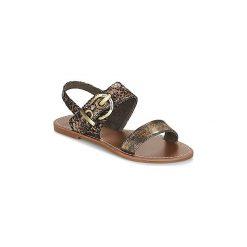 Sandały LPB Shoes  PERVENCHE. Żółte rzymianki damskie LPB Shoes. Za 103,20 zł.