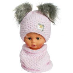 Czapka dziecięca z kominkiem CZ+K 173A różowa r. 48-50. Czerwone czapeczki niemowlęce Proman. Za 62,96 zł.
