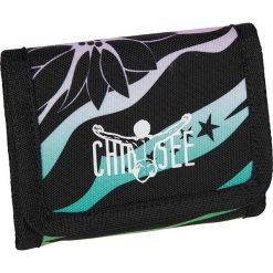 """Portfel """"Wallet"""" w kolorze czarno-turkusowym - 12,5 x 10 cm. Czarne portfele męskie Chiemsee Bags. W wyprzedaży za 39,95 zł."""