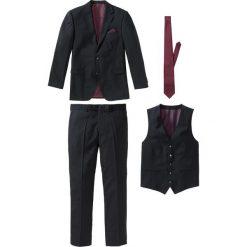 Garnitur 4-częściowy bonprix czarno-bordowy. Czerwone garnitury bonprix. Za 449,99 zł.