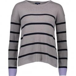 Sweter w kolorze szarym. Szare swetry klasyczne damskie marki Tom Tailor Adults, s, z bawełny, z okrągłym kołnierzem. W wyprzedaży za 130,95 zł.