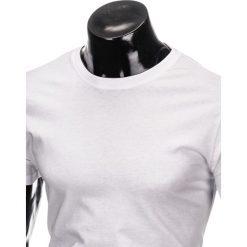 T-shirty męskie: T-SHIRT MĘSKI BEZ NADRUKU S884 – BIAŁY