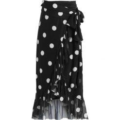 Długie spódnice: NAKD OVERLAP SKIRT Długa spódnica black/white