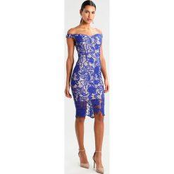 Sukienki hiszpanki: Missguided BLUE BARDOT DRESS Sukienka koktajlowa blue