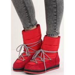 Czerwone Śniegowce Eskimo. Czerwone buty zimowe damskie Born2be. Za 64,99 zł.