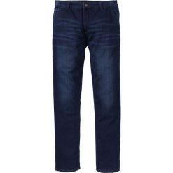 """Dżinsy dresowe chino Slim Fit Straight bonprix ciemnoniebieski """"stone used"""". Czarne jeansy męskie relaxed fit marki bonprix. Za 79,99 zł."""
