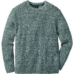 Sweter z okrągłym dekoltem Regular Fit bonprix zielony melanż. Zielone swetry klasyczne męskie marki bonprix, l, melanż, z dzianiny, z okrągłym kołnierzem. Za 59,99 zł.