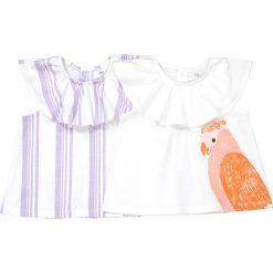 Bluzki dziewczęce bawełniane: Komplet, 2 bawełniane koszulki na ramiączkach, Oeko Tex 1 miesiąc - 3 latka