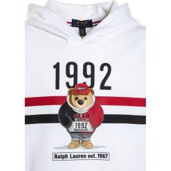 Polo Ralph Lauren HOOD Bluza z kapturem white. Białe bluzy dziewczęce Polo Ralph Lauren, z bawełny, z kapturem. Za 319,00 zł.