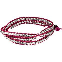 Bransoletki damskie: Skórzana bransoletka w kolorze różowym