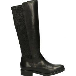 Kozaki ocieplane - 274003FY P NE. Czarne buty zimowe damskie marki Kazar, ze skóry, na wysokim obcasie. Za 339,00 zł.