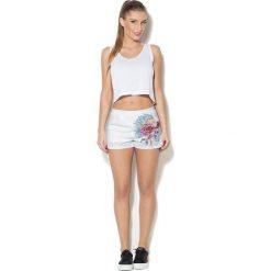 Spodnie damskie: Colour Pleasure Spodnie damskie CP-020 229 białe r. XS/S