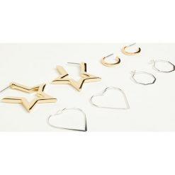 Kolczyki damskie: Kolczyki koła, gwiazdy i serca