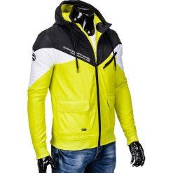 KURTKA MĘSKA PRZEJŚCIOWA SPORTOWA C316 - CZARNA. Czarne kurtki sportowe męskie Ombre Clothing, m, z polaru. Za 99,00 zł.
