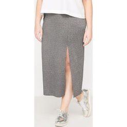 Długie spódnice: Długa spódnica tuba z błyszczącej dzianiny