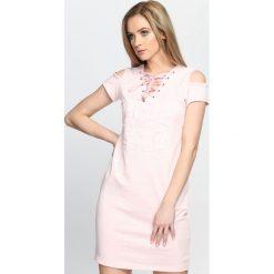Sukienki: Różowa Sukienka Sun Daze