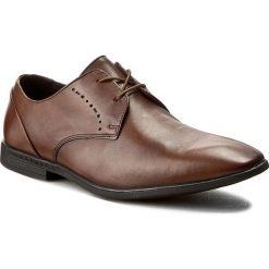 Półbuty CLARKS - Bampton Lace 261253987 Tan Leather. Brązowe półbuty skórzane męskie Clarks. W wyprzedaży za 179,00 zł.