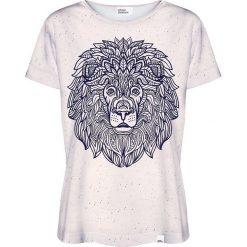 Colour Pleasure Koszulka damska CP-030 210 granatowo-beżowa r. XXXL/XXXXL. Fioletowe bluzki damskie marki Colour pleasure, uniwersalny. Za 70,35 zł.