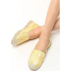 Żółte Espadryle Lihan. Żółte espadryle damskie marki Born2be, z materiału, na platformie. Za 49,99 zł.