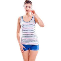 Piżamy damskie: Piżama w kolorze niebieskim - top, szorty