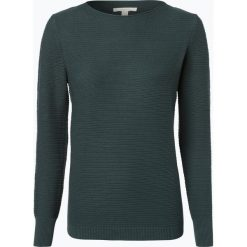 Esprit Casual - Sweter damski, zielony. Zielone swetry klasyczne damskie Esprit Casual, l, prążkowane. Za 229,95 zł.