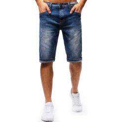 Bermudy męskie: Spodenki męskie jeansowe niebieskie (sx0683)