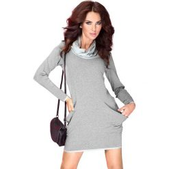 Golf - sukienka z dużymi kieszeniami - jasny. Szare sukienki numoco. Za 119,99 zł.