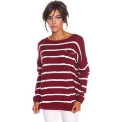 """Sweter """"Jena"""" w kolorze bordowym. Czerwone swetry klasyczne damskie marki 100% Maille, s, z dekoltem w łódkę. W wyprzedaży za 108,95 zł."""