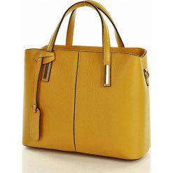 Kuferki damskie: Torebka kuferek - skórzana  MARCO MAZZINI żółty senape
