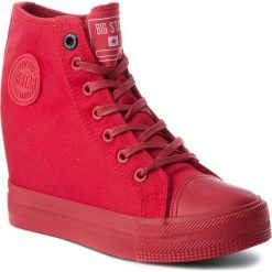 Sneakersy damskie: Sneakersy BIG STAR – AA274A088 Red
