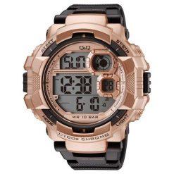 Biżuteria i zegarki męskie: Zegarek Q&Q Męski M143-006 Metronom czarno-złoty
