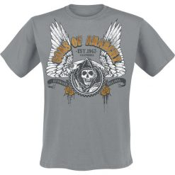 T-shirty męskie z nadrukiem: Sons Of Anarchy Winged Reaper T-Shirt szary